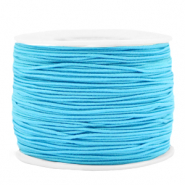 Gekleurd elastiek 1.2mm Light blue