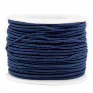 Gekleurd elastiek 2mm Dark blue