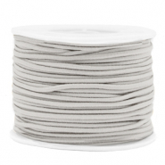 Gekleurd elastiek 2mm Light grey