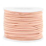 Gekleurd elastiek 2mm Peach blush pink