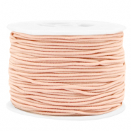 Gekleurd elastiek 1.5mm Peach blush pink