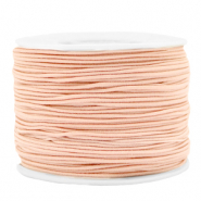 Gekleurd elastiek 1.2mm Peach blush pink