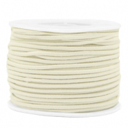 Gekleurd elastiek 2mm Off white