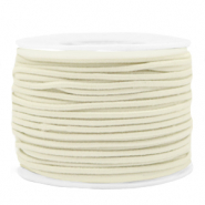 Gekleurd elastiek 1.5mm Off white