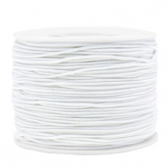 Gekleurd elastiek 1.2mm White