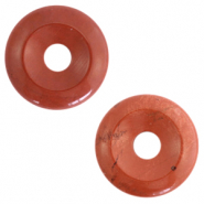 Hangers van natuursteen disc Red ochre brown