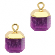Hangers van natuursteen square Purple-gold