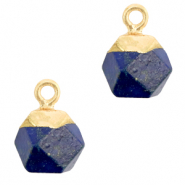 Hangers van natuursteen hexagon Dark blue-gold