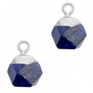 Hangers van natuursteen hexagon Dark blue-silver
