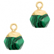 Hangers van natuursteen hexagon Green-gold