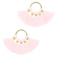 Kwastje hanger Gold-light pink