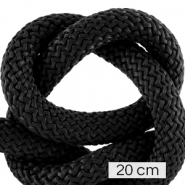 Koord Maritiem 10mm (4x20cm) Black