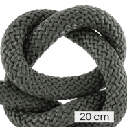 Koord Maritiem 10mm (4x20cm) Dark grey