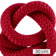 Koord Maritiem 10mm (3x30cm) Bordeaux red