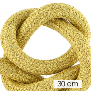 Koord Maritiem 10mm (3x30cm) Metallic gold