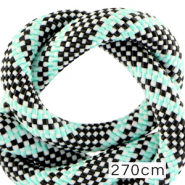 Koord Maritiem 10mm (270cm) Multicolour turquoise black