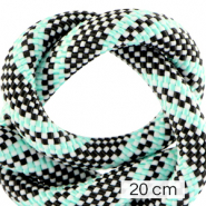 Koord Maritiem 10mm (4x20cm) Multicolour turquoise black