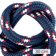Koord Maritiem 10mm (3x30cm) Multicolour red white blue