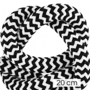 Koord Maritiem 10mm (4x20cm) White-black