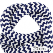 Koord Maritiem 10mm (4x20cm) White-dark blue