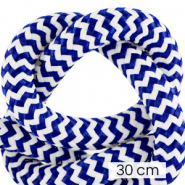 Koord Maritiem 10mm (3x30cm) White-princess blue