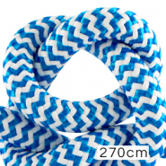Koord Maritiem 10mm (270cm) White-capri blue