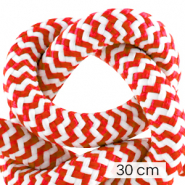 Koord Maritiem 10mm (3x30cm) White-red