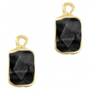 Hangers van natuursteen rectangle Black-gold