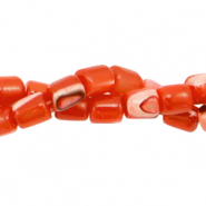 Schelp kralen tube Spicy orange