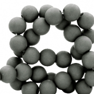 8 mm kralen van acryl Dark sleet grey