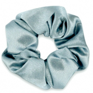 Scrunchie silky haarelastiek Allure blue grey