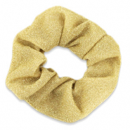 Scrunchie glitter haarelastiek Gold