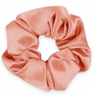 Scrunchie silky haarelastiek Flirty flamingo rose