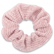 Scrunchie corduroy haarelastiek Rose tan