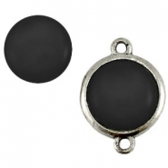 Cabochon Polaris 20 mm shiny Nero zwart