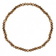 Facet armbanden top quality 3x2mm Copper-pearl shine coating