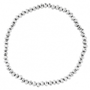 Facet armbanden top quality 3x2mm Silver-pearl shine coating