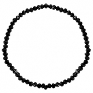 Facet armbanden top quality 3x2mm Black-pearl shine coating
