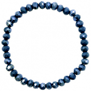 Facet armbanden top quality 6x4mm Classic blue-pearl shine coating