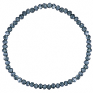 Facet armbanden top quality 3x2mm Greige blue-pearl shine coating
