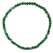 Facet armbanden top quality 3x2mm Dark green-pearl shine coating