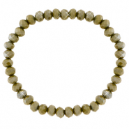 Facet armbanden top quality 6x4mm Olive army green-pearl shine coating