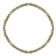 Facet armbanden top quality 3x2mm Olive army green-pearl shine coating