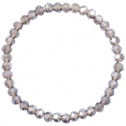 Facet armbanden top quality 6x4mm Greige-pearl shine coating