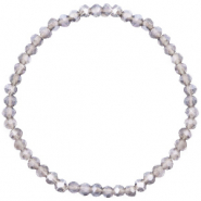 Facet armbanden top quality 4x3mm Greige champagne-pearl shine coating