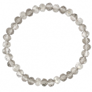 Facet armbanden top quality 6x4mm Light grey-pearl shine coating
