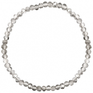 Facet armbanden top quality 4x3mm Light grey-pearl shine coating
