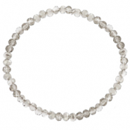 Facet armbanden top quality 3x2mm Light grey-pearl shine coating