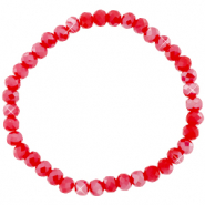 Facet armbanden top quality 6x4mm Samba red-pearl shine coating