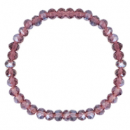 Facet armbanden top quality 6x4mm Light purple-pearl shine coating